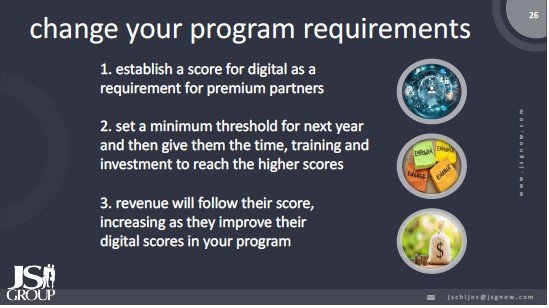 Change your channel program requirements